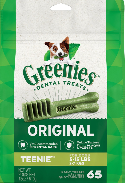 Greenies Original Teenie Dental Dog Treats, 65-count (Size: 65-count) Image