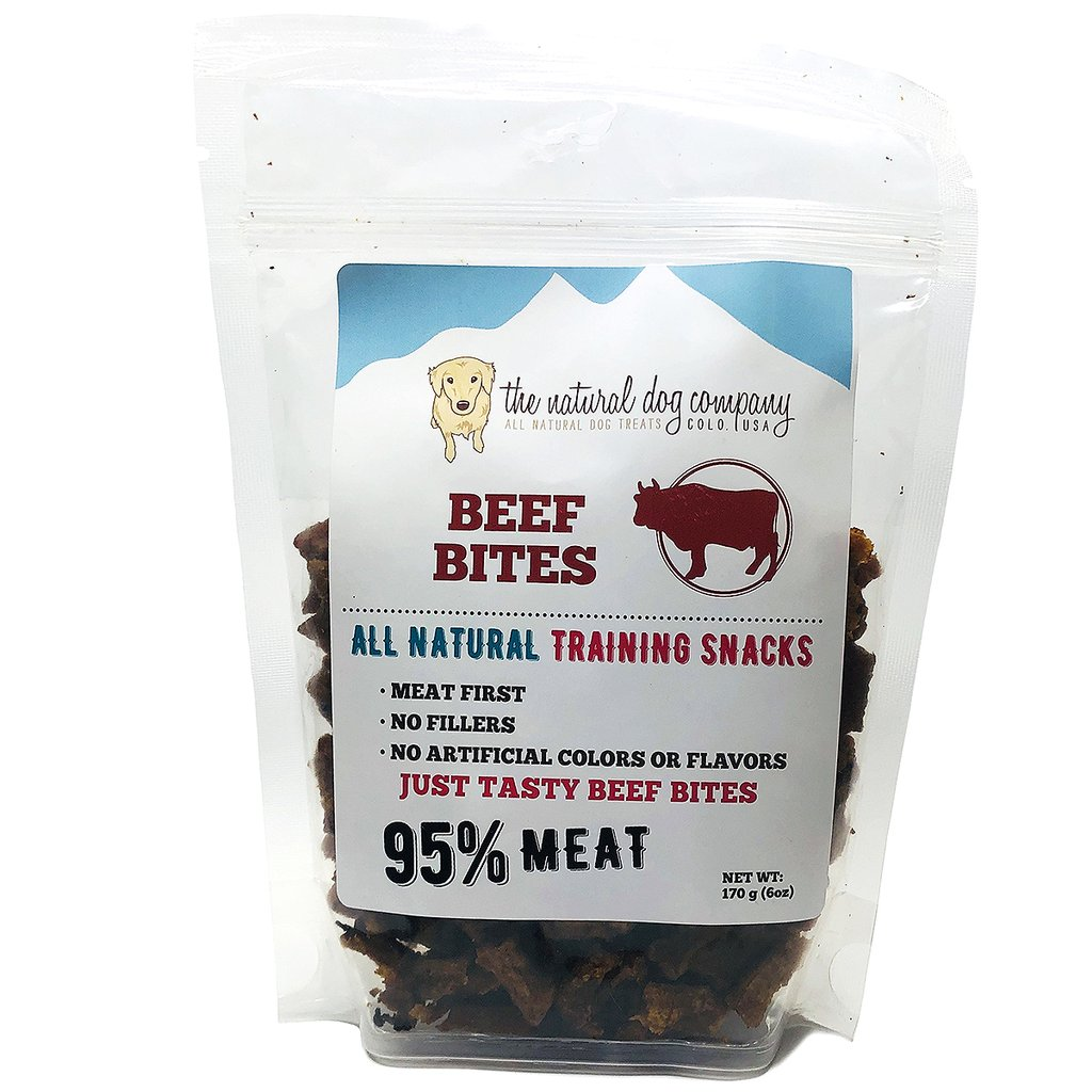 The Natural Dog Company 95% Beef Training Bites Dog Treats, 6-oz