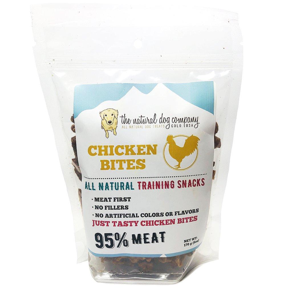 The Natural Dog Company 95% Chicken Training Bites Dog Treats, 6-oz