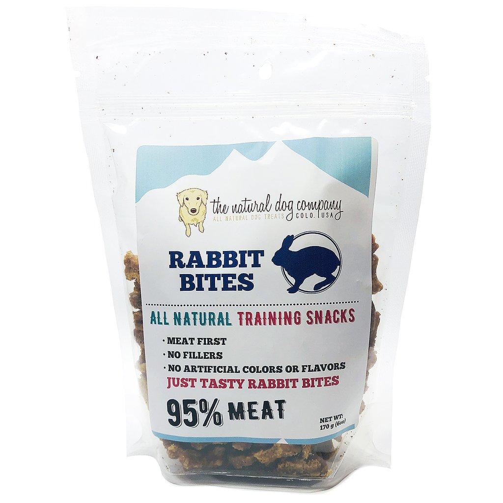 The Natural Dog Company 95% Rabbit Training Bites Dog Treats, 6-oz