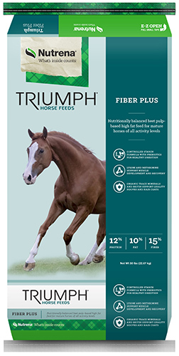 Nutrena Triumph Fiber Plus Texture, 50-lb