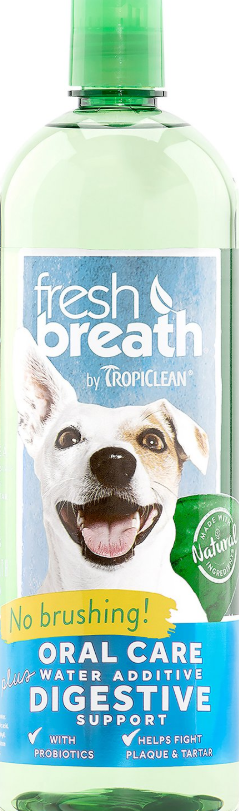 TropiClean Fresh Breath Oral Care Water Additive Plus Digestive Support, 16-oz