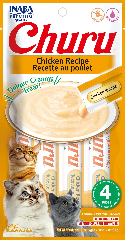 Inaba Churu Chicken Recipe Lickable Cat Treats, 2-oz (Size: 2-oz, Weights: 4.8ounces) Image