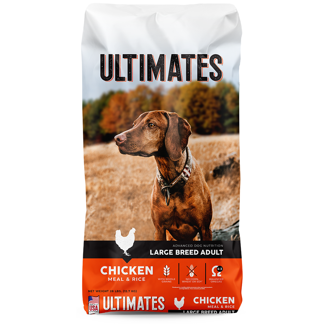 Ultimates Large Brand Adult Chicken & Rice Dry Dog Food, 28-lb