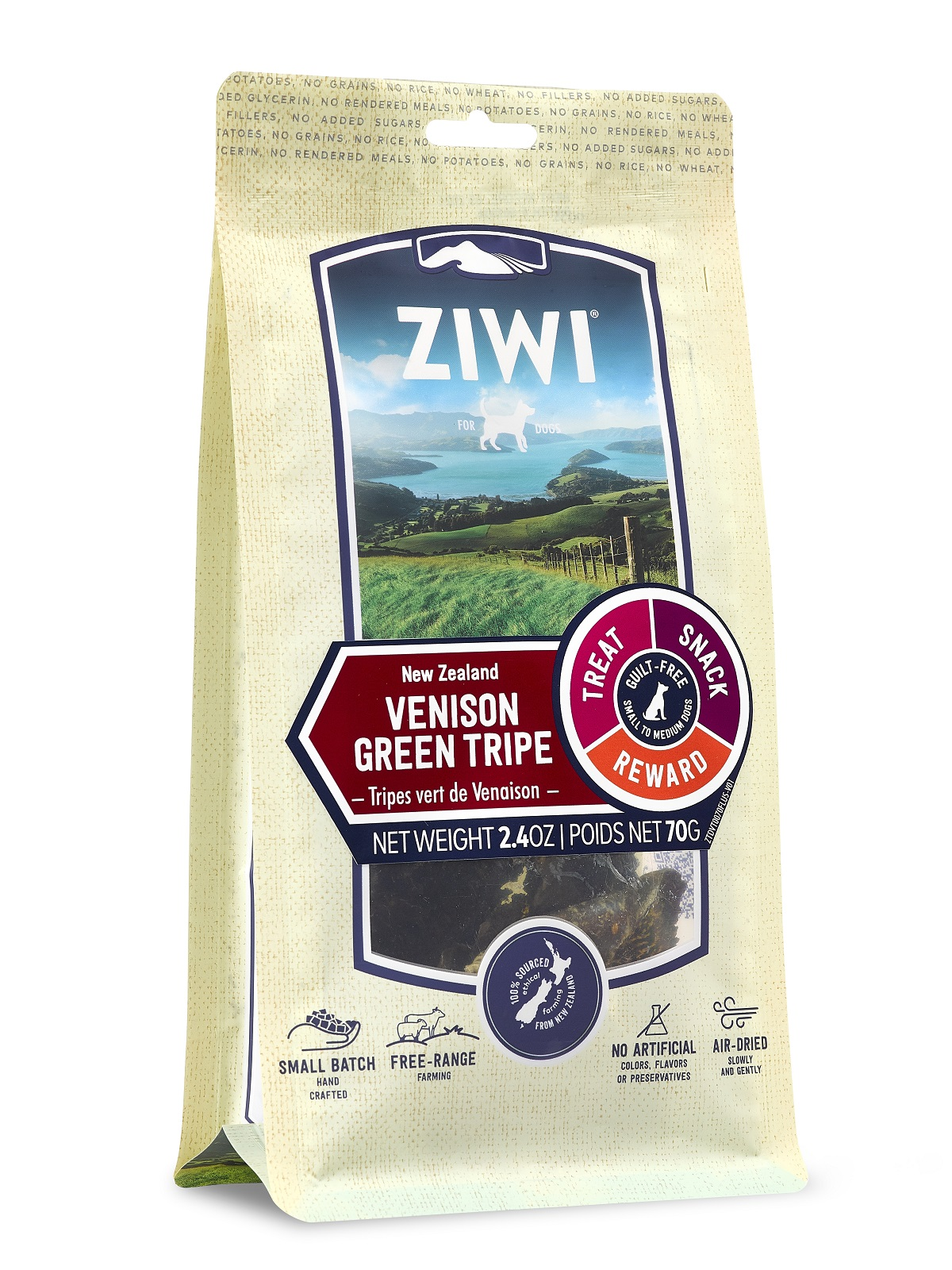 ZIWI Venison Green Tripe Dog Treats, 2.4-oz