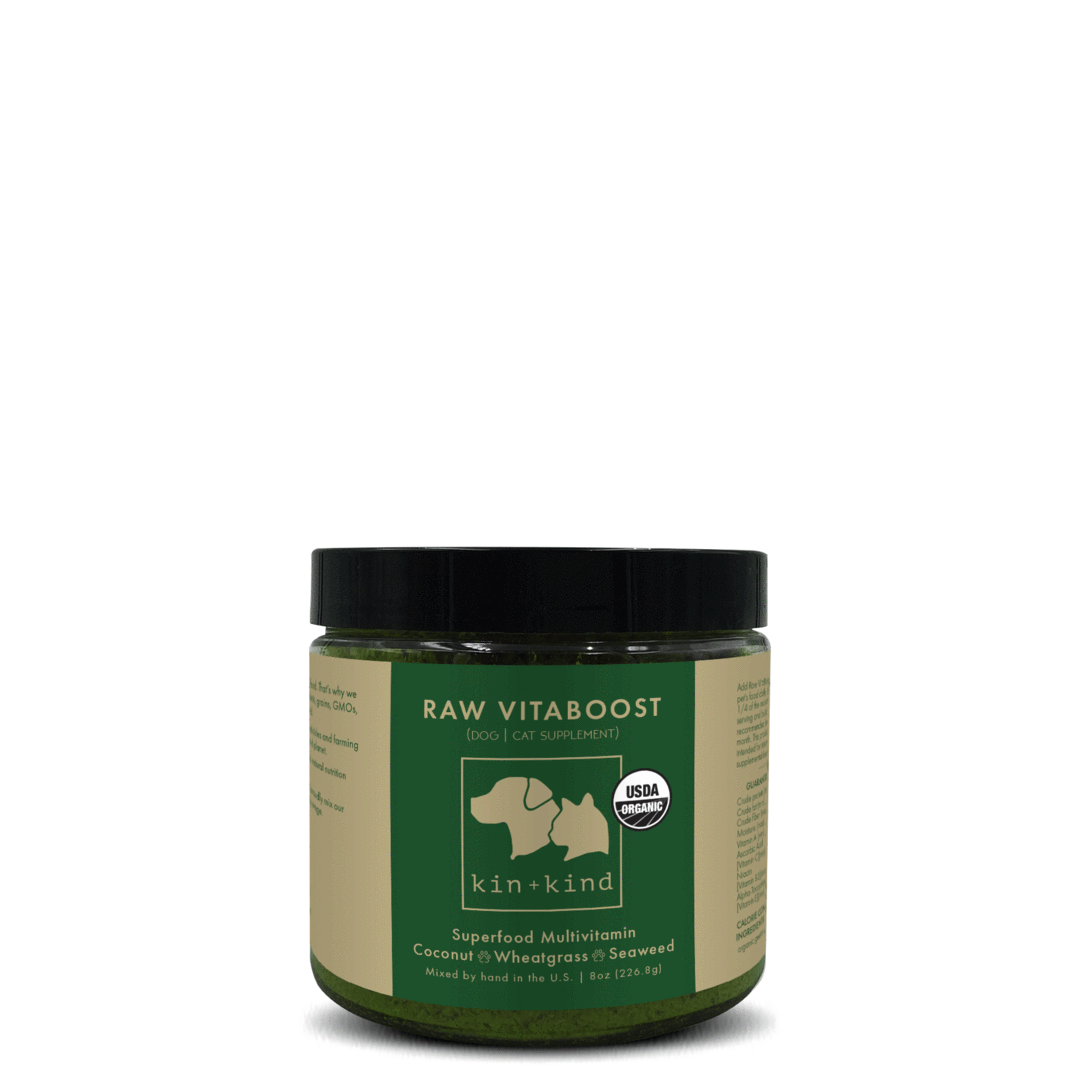 kin+kind Raw Vitaboost Multivitamin For Dogs And Cats, 8-oz