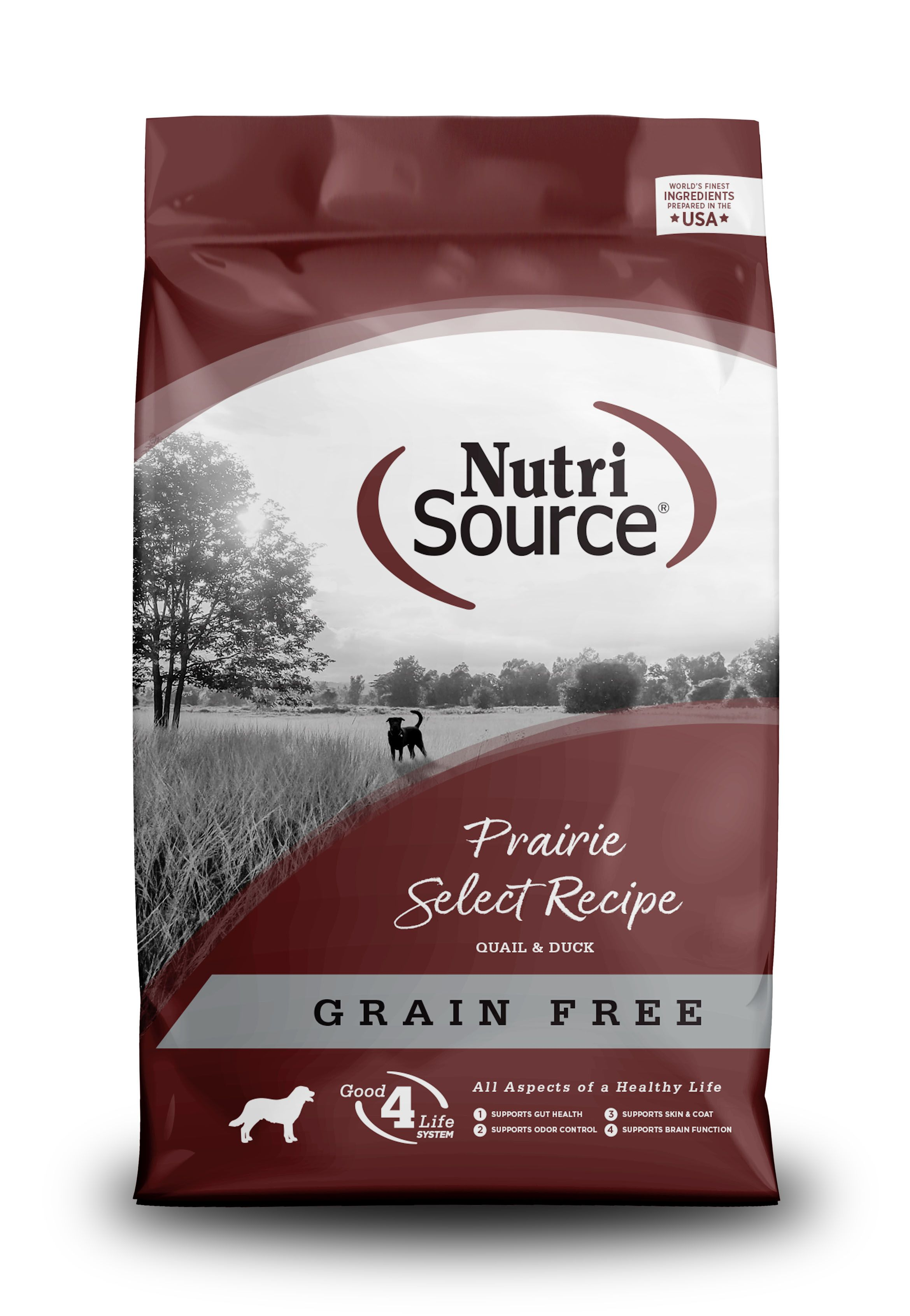 NutriSource Grain Free Prairie Select Dry Dog Food, 30-lb