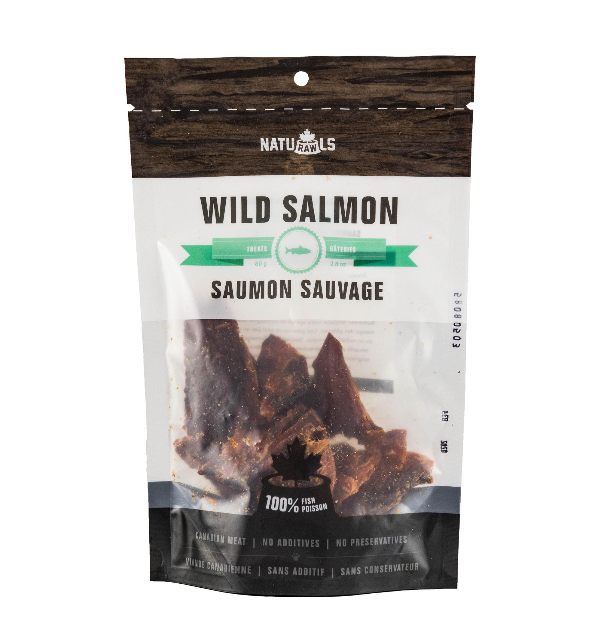 Naturawls Wild Salmon Dehydrated Dog Treats, 80-gram