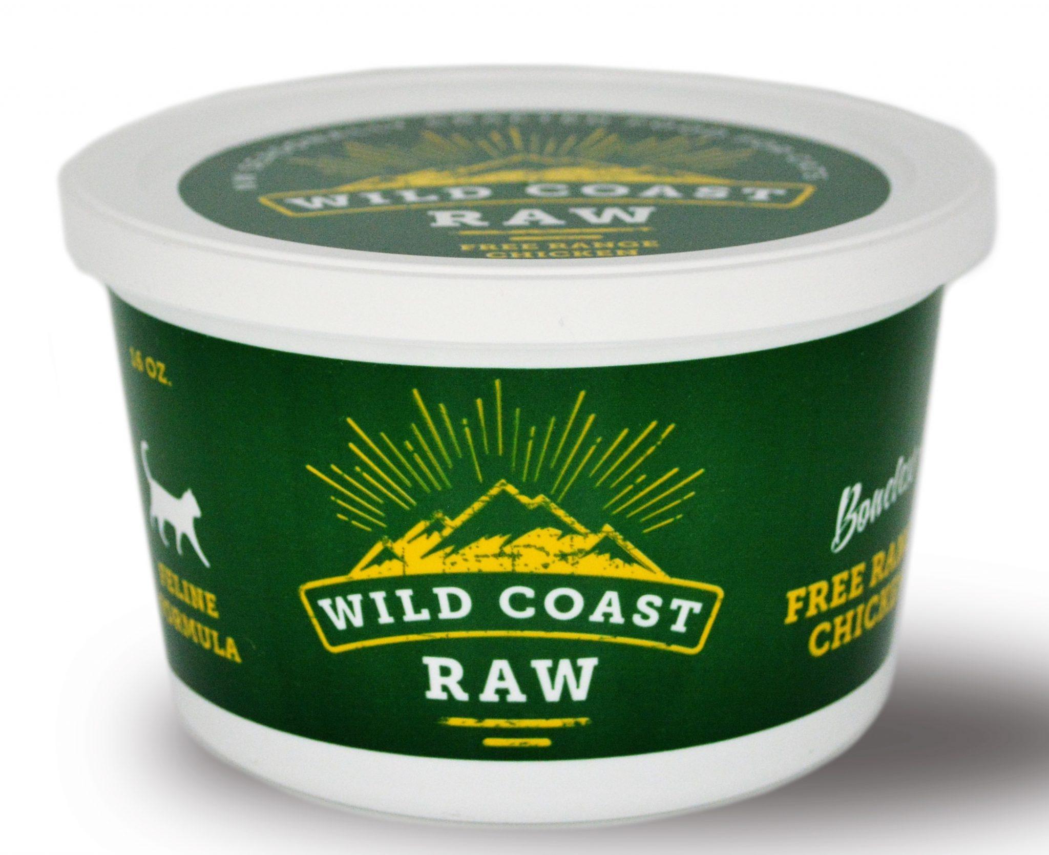 Wild Coast Raw Free Range Chicken Raw Frozen Cat Food, 1-lb