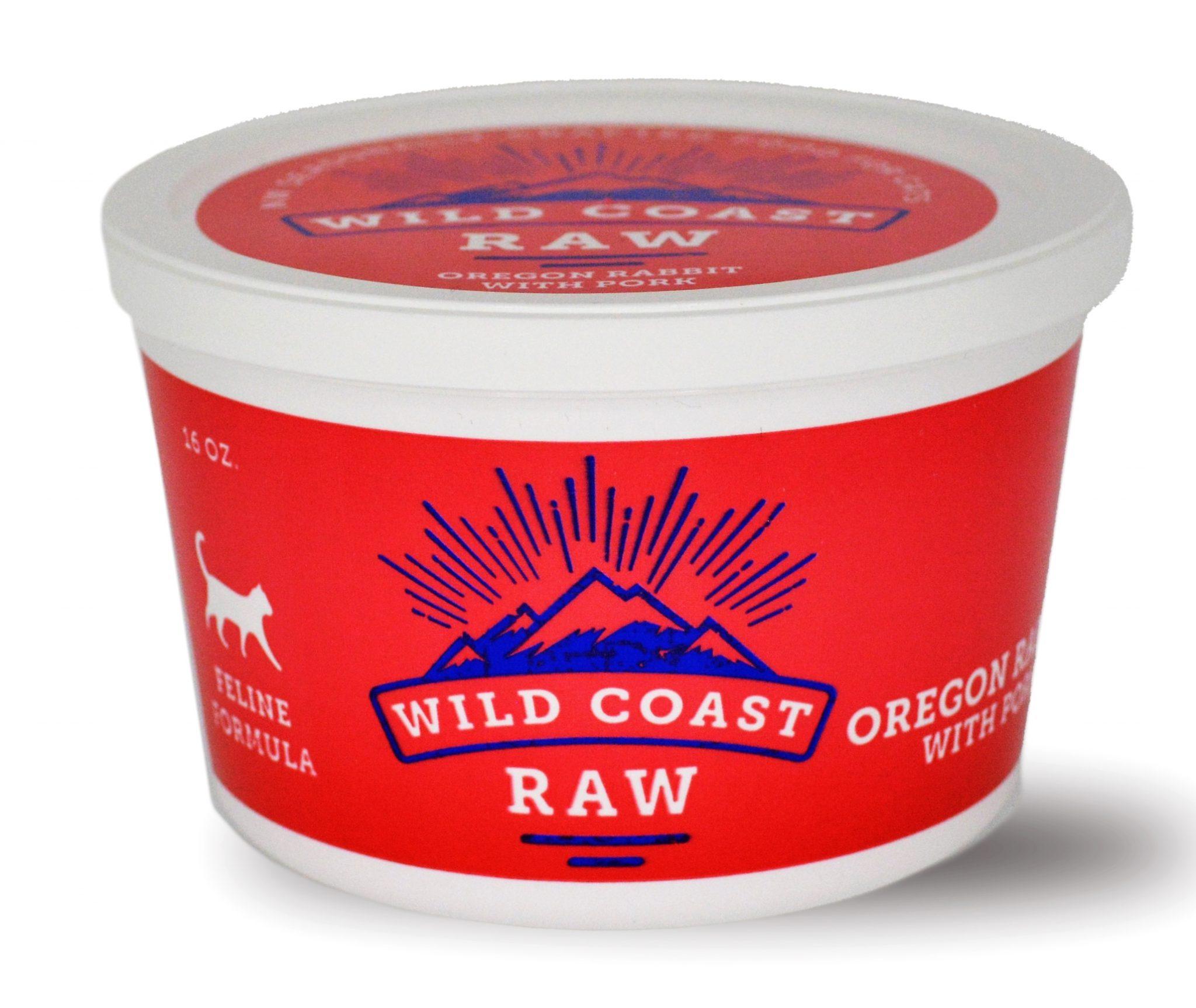 Wild Coast Raw Farm Raised Rabbit & Pork Raw Frozen Cat Food, 1-lb