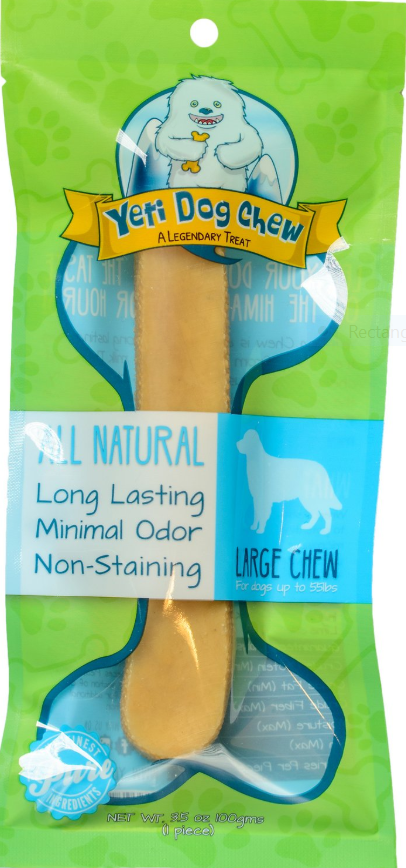 Yeti Dog Chew Large Himalayan Cheese Packaged Dog Treats, 1-count (Size: 1-count) Image