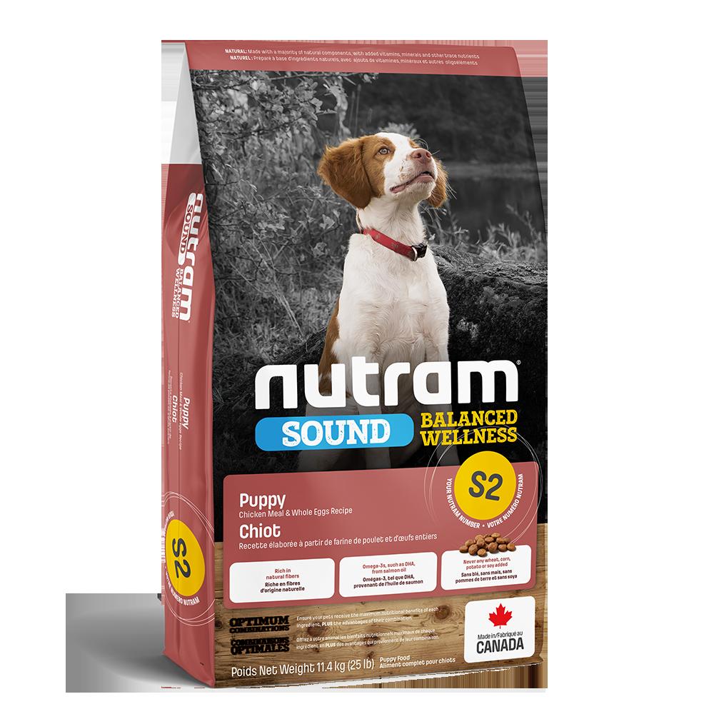 Nutram Sound S2 Balanced Wellness Puppy Food, 11.4-kg