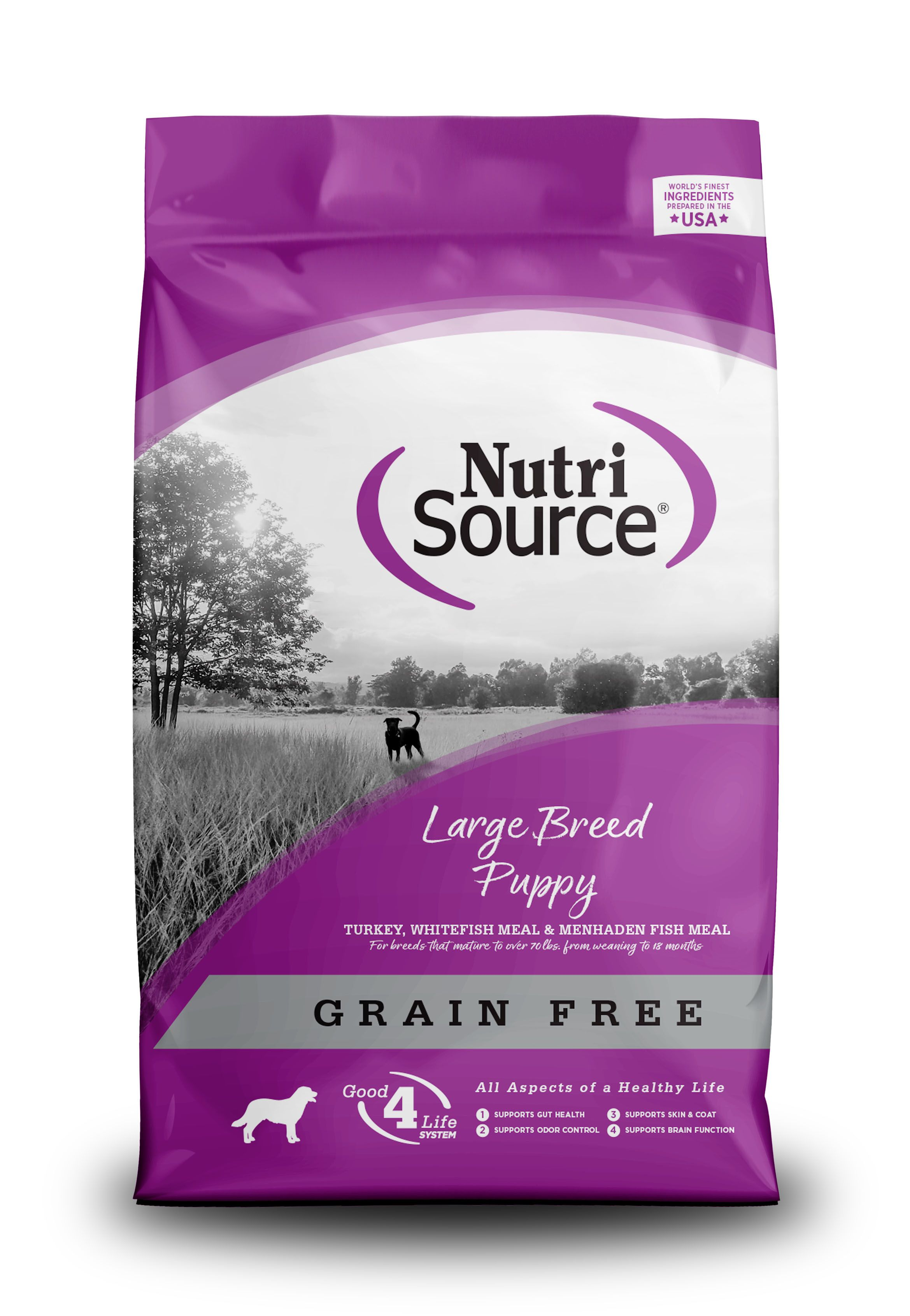 NutriSource Grain Free Large Breed Puppy Recipe Dry Dog Food Image