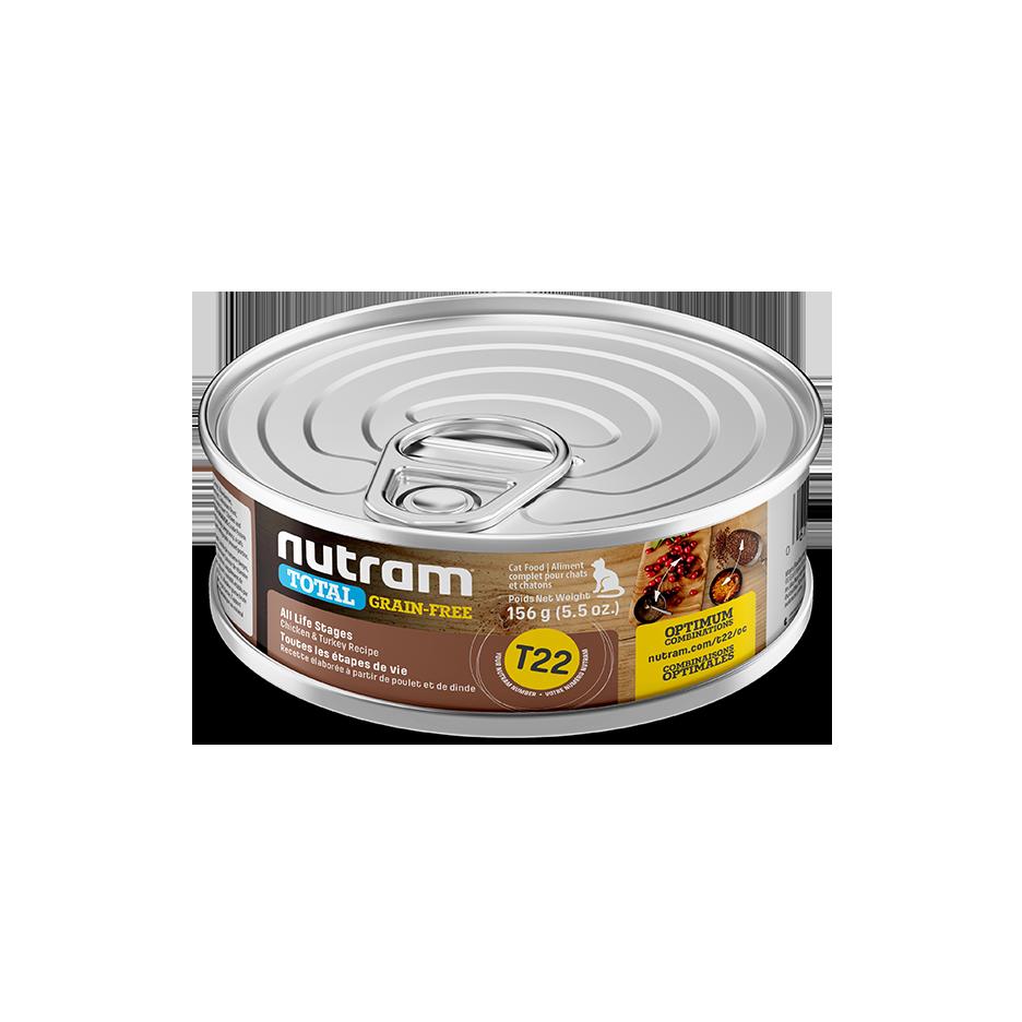 Nutram Total T23 Chicken & Turkey Grain-Free All Life Stages Wet Dog Food, 369-gram, case of 12