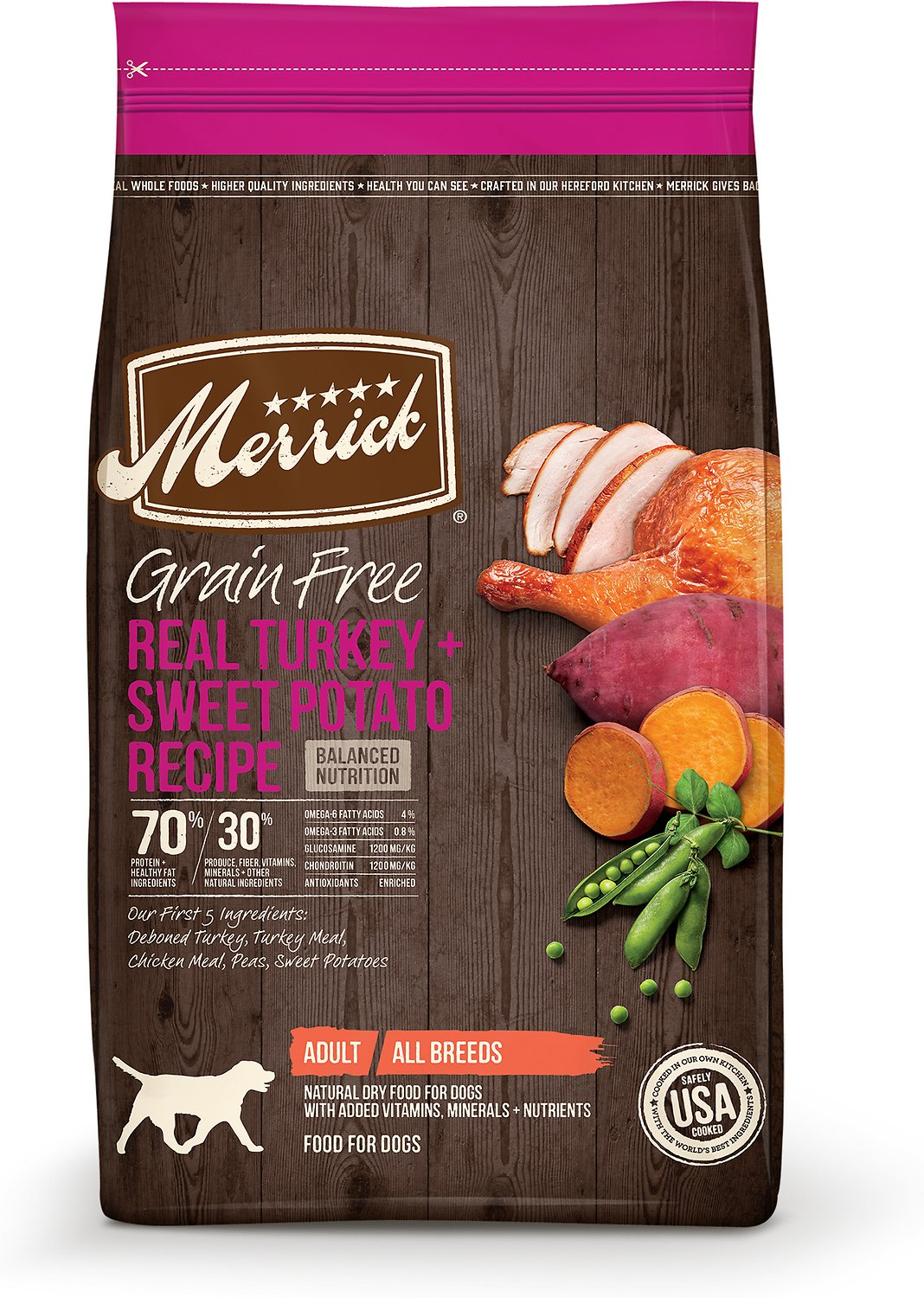 Merrick Grain-Free Real Turkey + Sweet Potato Recipe Dry Dog Food Image