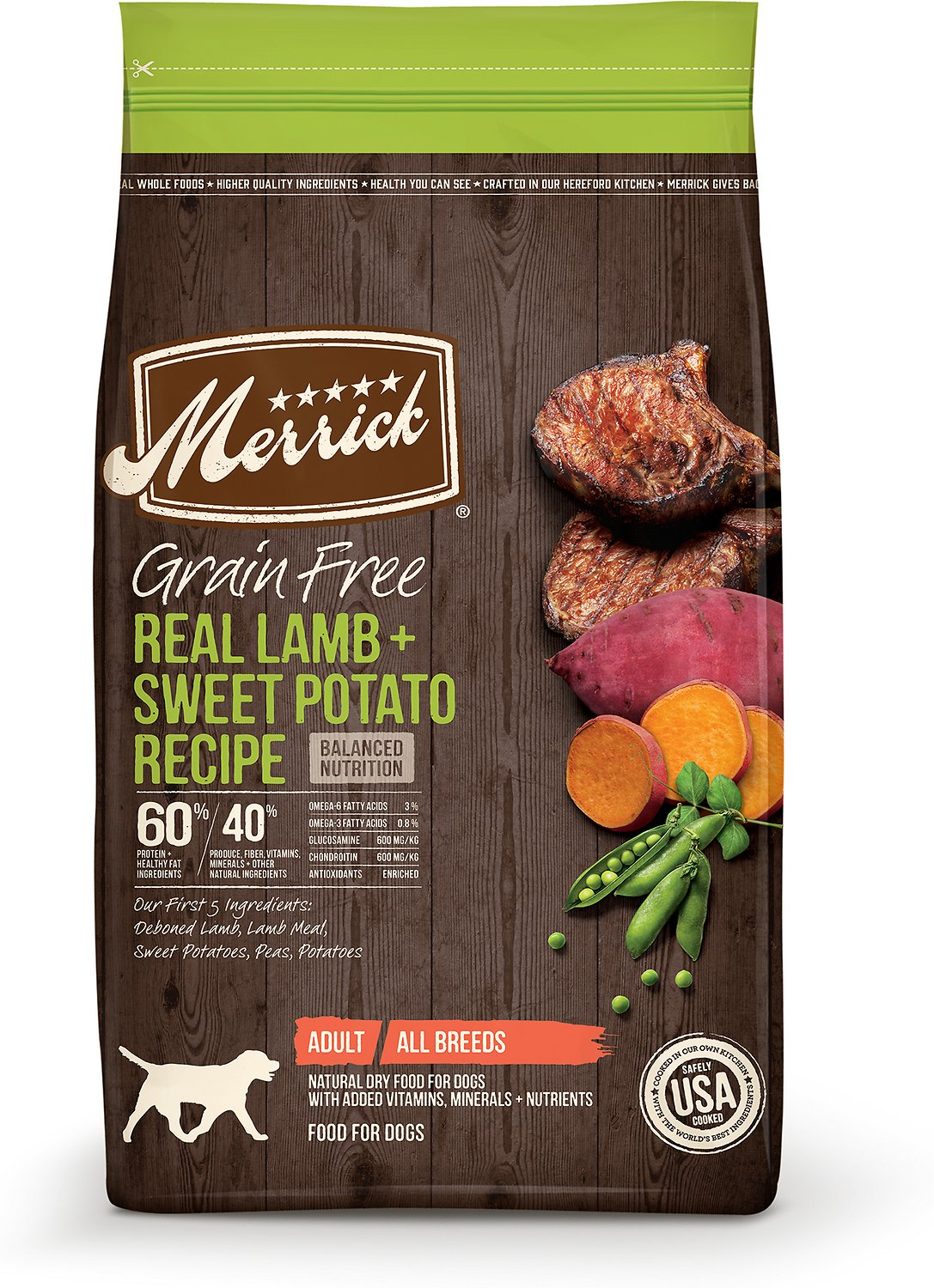 Merrick Grain-Free Real Lamb + Sweet Potato Recipe Dry Dog Food Image