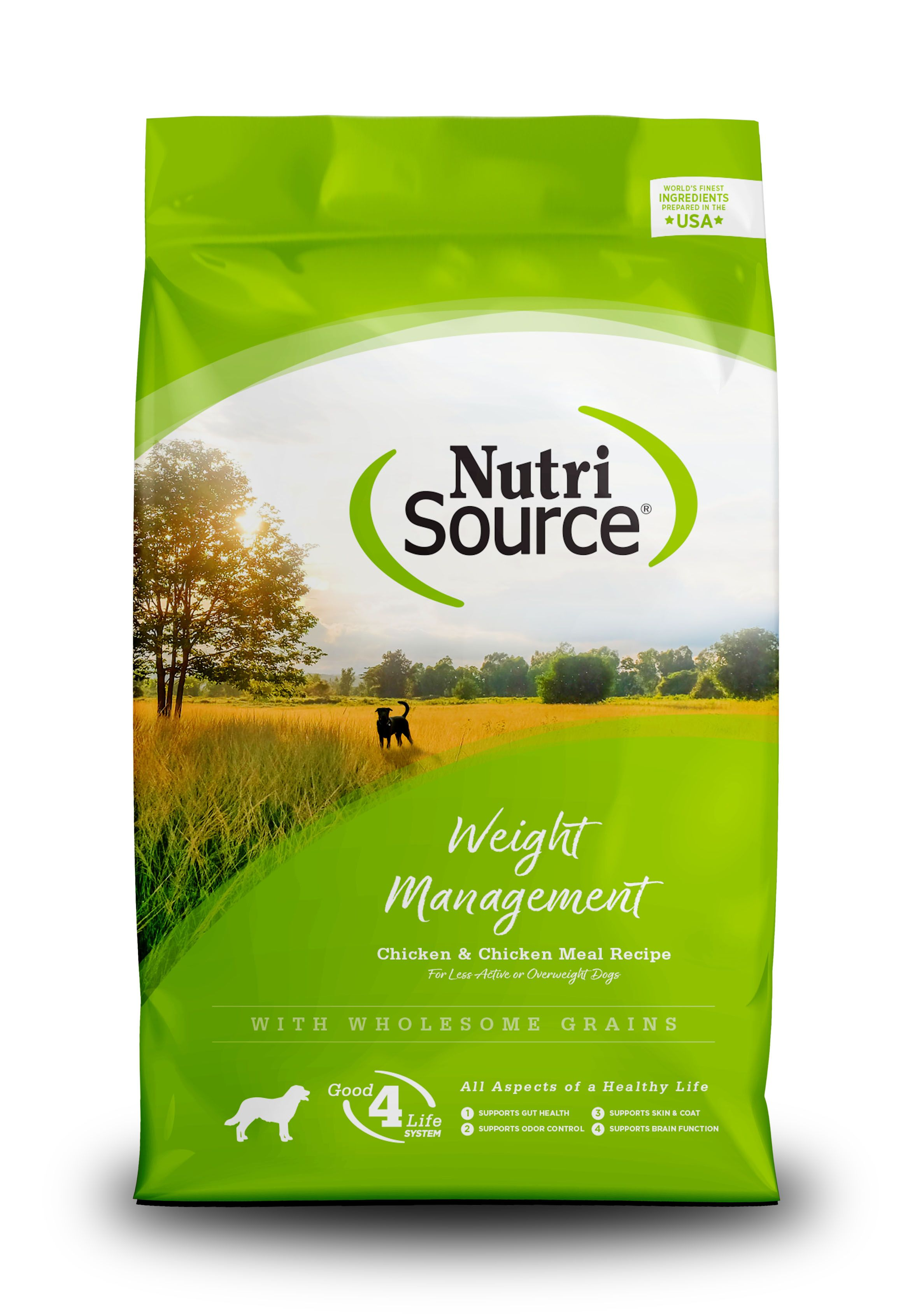 NutriSource Weight Management Chicken and Chicken Meal Dry Dog Food Image