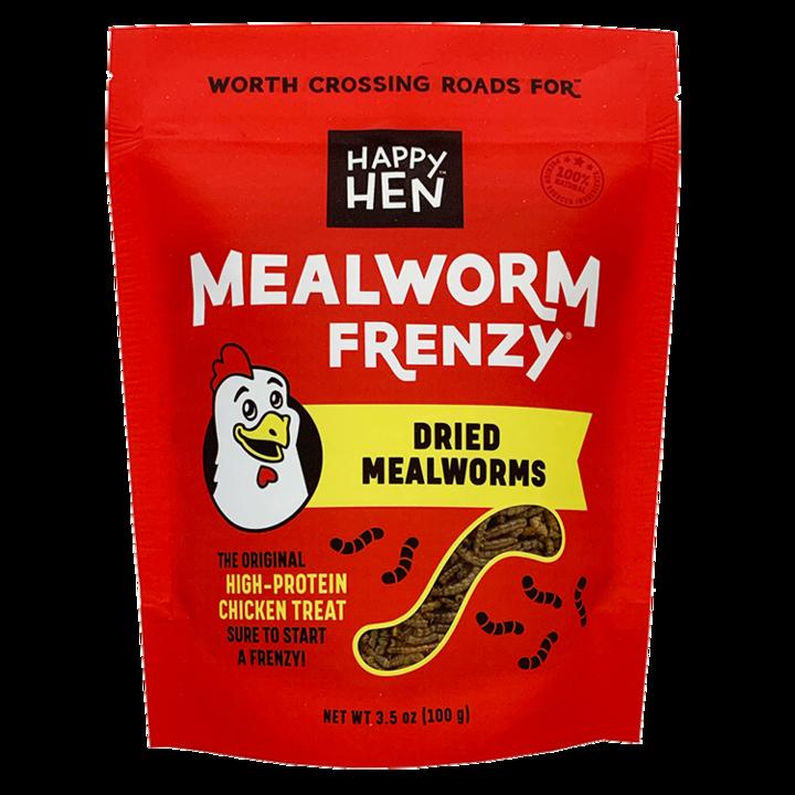 Happy Hen Treats Mealworm Frenzy Treats for Chickens, 5-lb