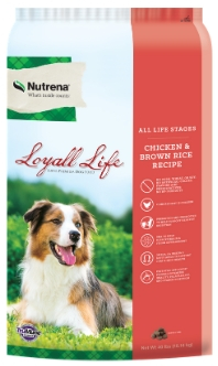 Nutrena Loyall Life Chicken & Brown Rice Recipe All Life Stages Dry Dog Food, 40-lb
