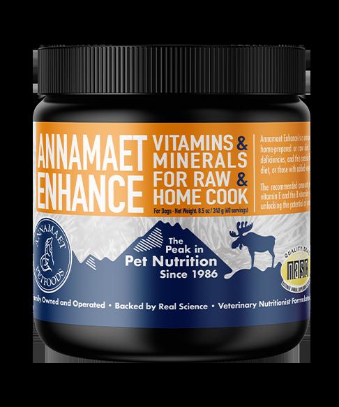 Annamaet Enhance Vitamin & Mineral Additive for Raw Food, 8.5-oz