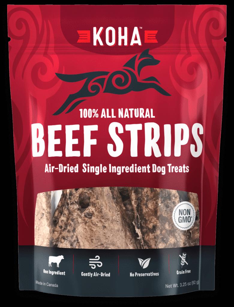 Koha Beef Strips Air-Dried Dog Treats, 3.25-oz