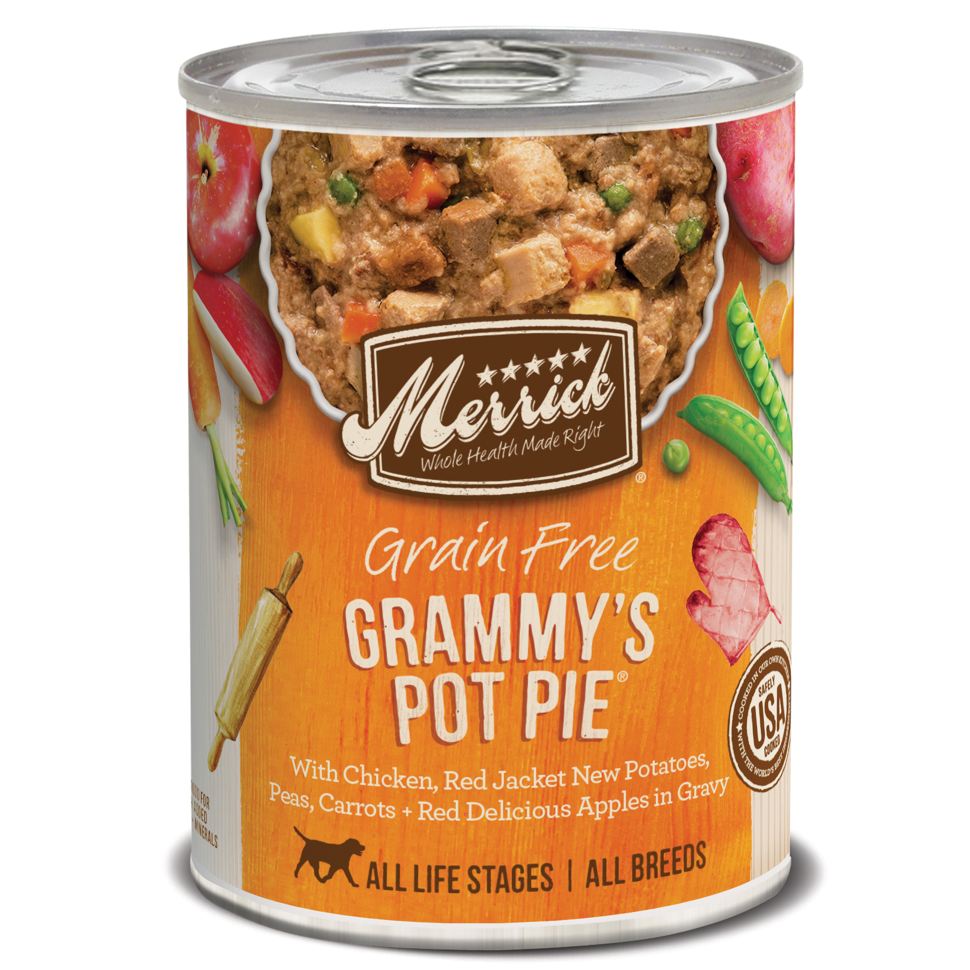 Merrick Grain-Free Grammy's Pot Pie Recipe Canned Dog Food, 12.7-oz