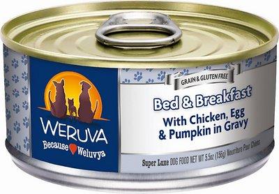 Weruva Dog Classic Bed & Breakfast with Chicken, Egg, & Pumpkin in Gravy Grain-Free Wet Dog Food, 5.5-oz