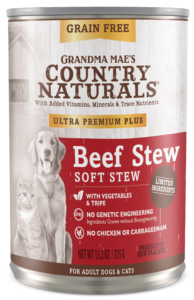 Grandma Mae's Country Naturals Ultra Premium Plus Beef Stew Wet Dog & Cat Food, 13.2-oz