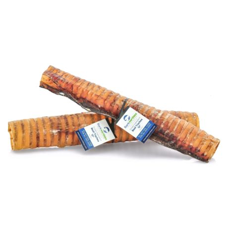 Barkworthies Beef Trachea Dog Treats, 12-in Image