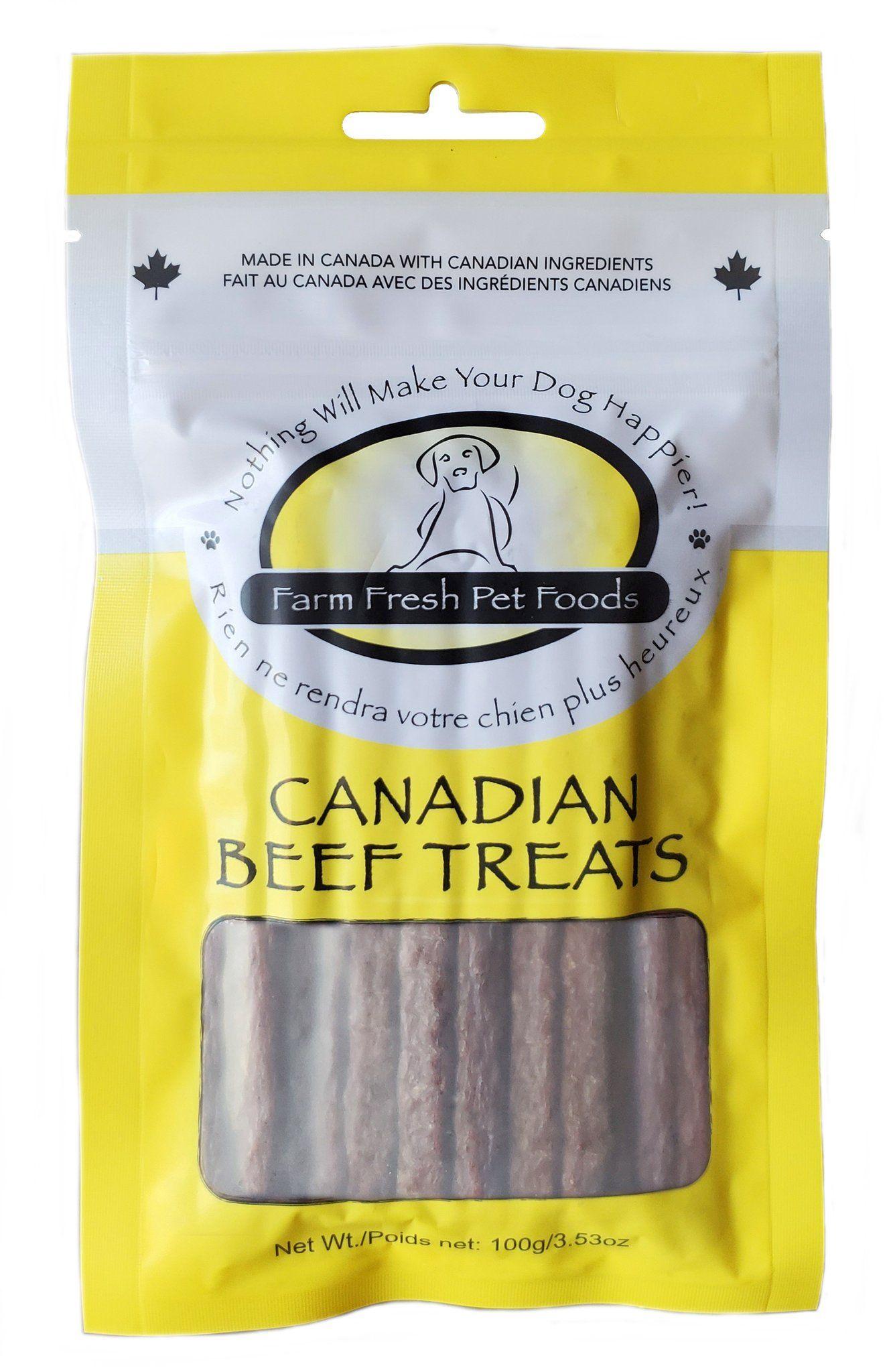 Farm Fresh Pet Foods Canadian Beef Dog Treats, 100-gram