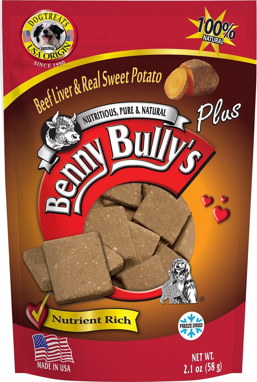 Benny Bully's Liver Plus Beef Liver & Real Sweet Potato Freeze-Dried Dog Treats, 2.1-oz