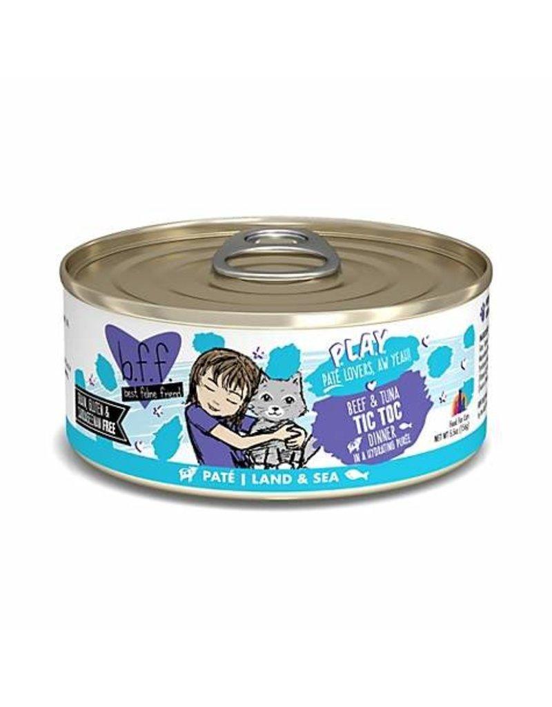 BFF PLAY Pate Tic Toc Beef & Tuna Dinner in Puree Grain-Free Wet Cat Food Image