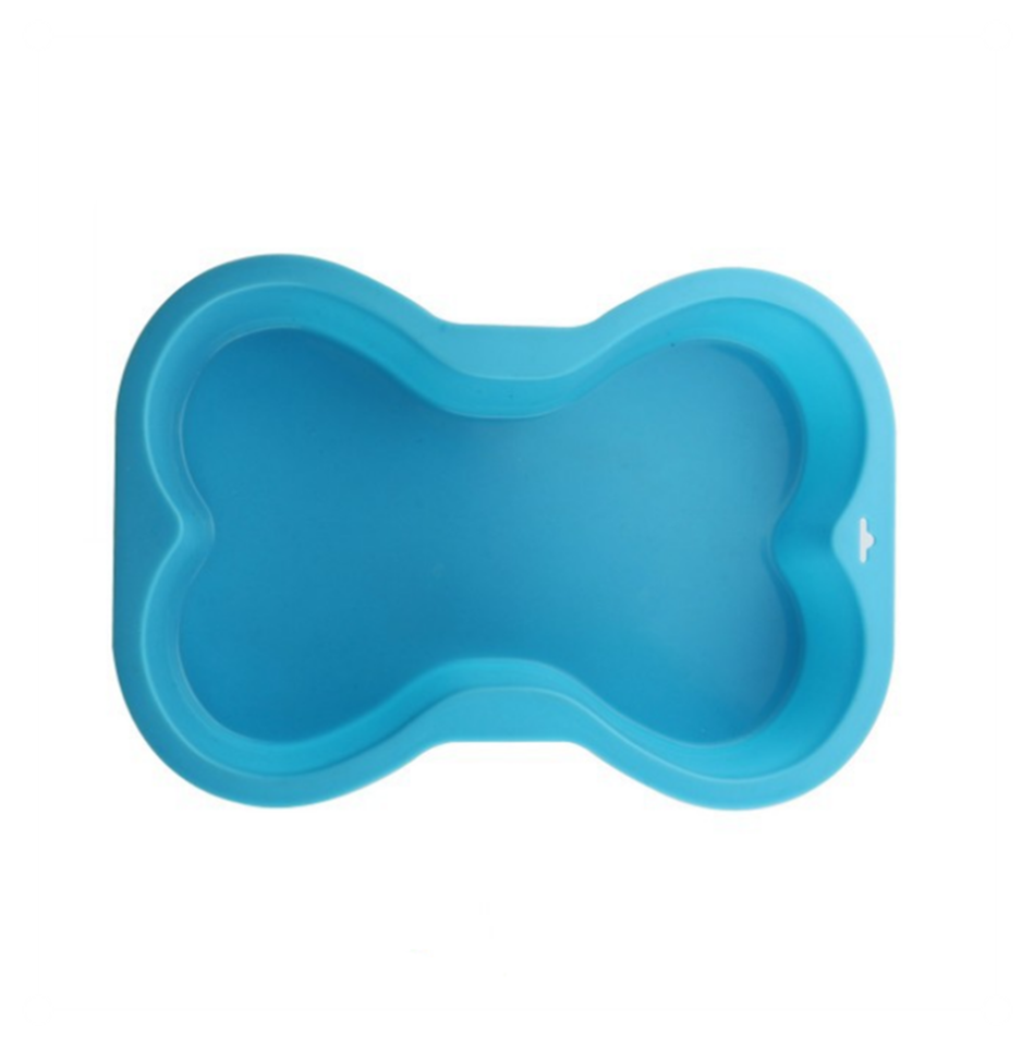 Puppy Cake Silicone Bone Shaped Dog Pan, Color Varies