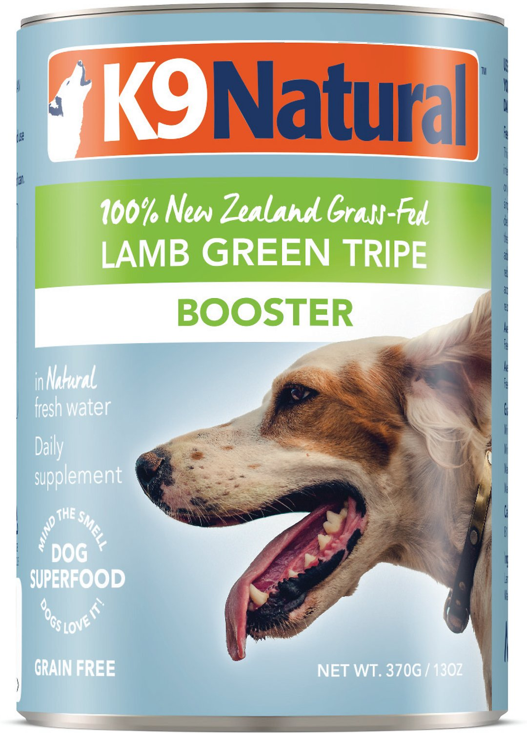 K9 Natural Booster Lamb Green Tripe Grain-Free Canned Dog Food, 13-oz