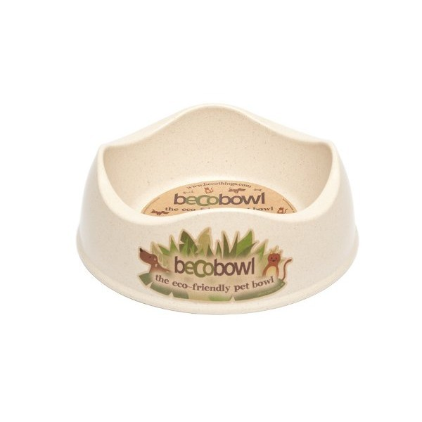Beco Bamboo Dog & Cat Bowl, Natural, Small, 6.6-inch