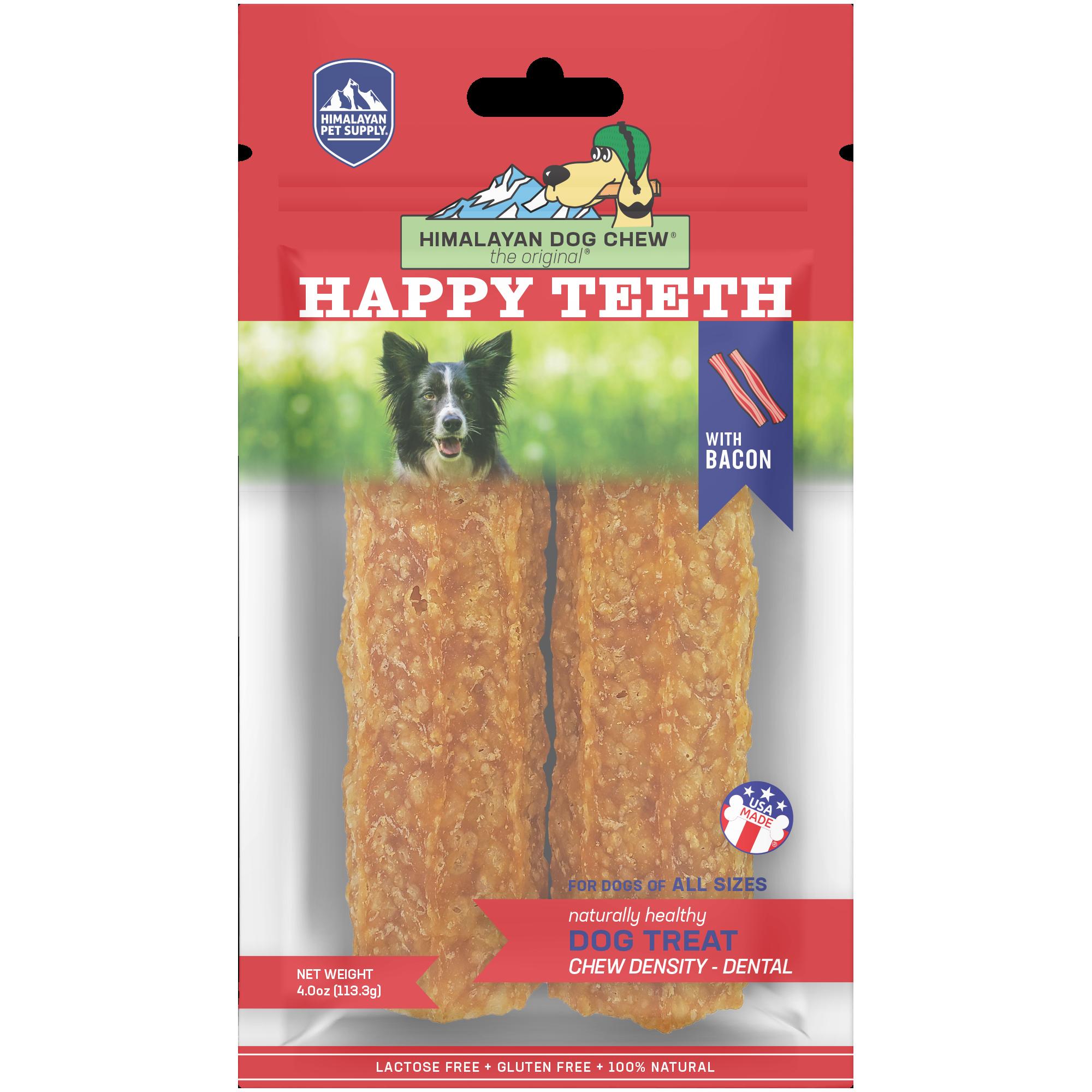 Himalayan Happy Teeth Dental Dog Chew, Bacon, 2 pack