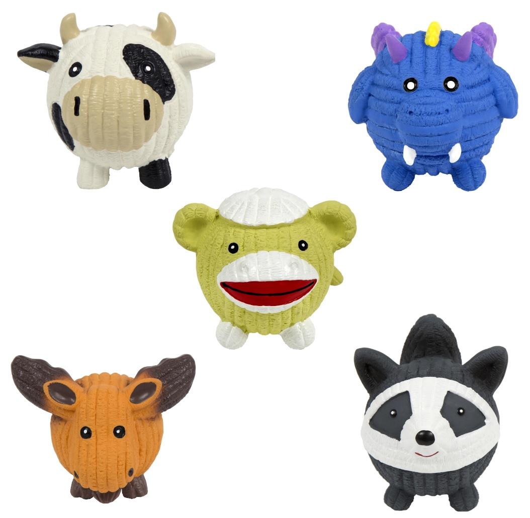 HuggleHounds Big Bucket of Small Ruff-Tex Balls Dog Toy, 1-count