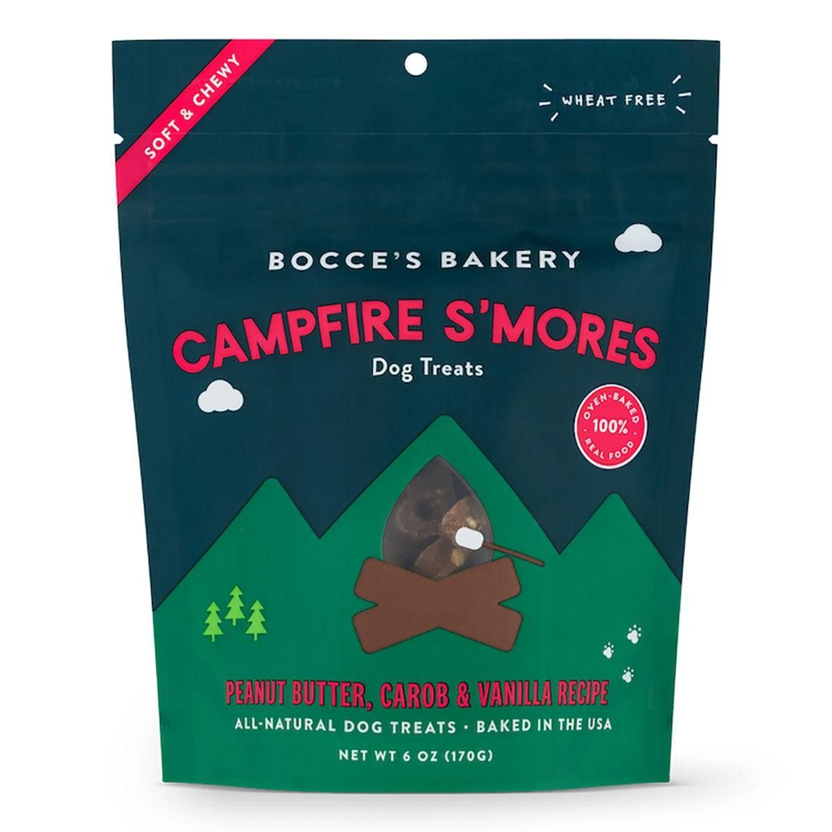 Bocce's Bakery Campfire S'mores Soft & Chewy Dog Treats, 6-oz