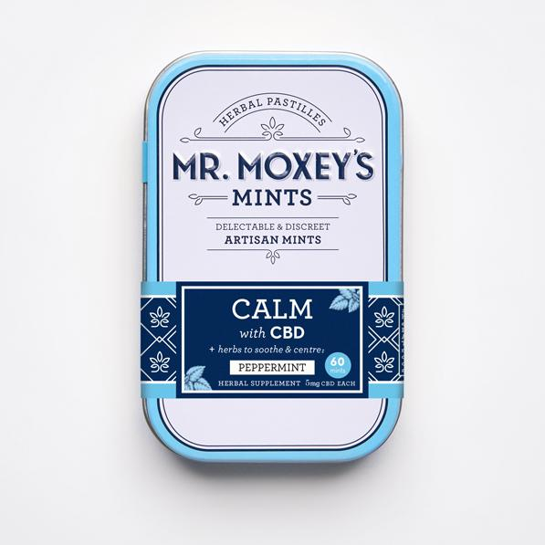 Mr. Moxey's CALM 5mg Alternative Supplement Peppermint Mints, 60-count