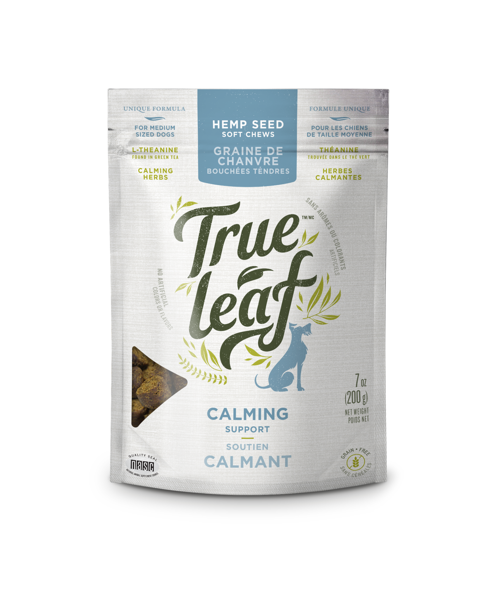 True Leaf Calming Support Chews for Small Dogs, 3.2-oz
