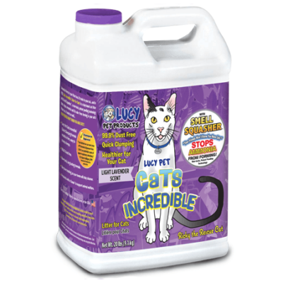 Lucy Pet Cats Incredible Lavender Scented Cat Litter, 20-lb