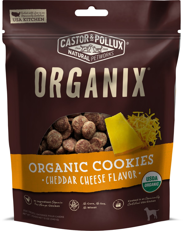 Castor & Pollux Organix Organic Cheddar Cheese Flavor Cookies Dog Treats, 12-oz bag