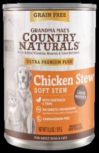 Grandma Mae's Country Naturals Ultra Premium Plus Chicken Stew Wet Dog & Cat Food, 13.2-oz