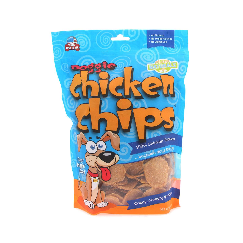 Chip's Naturals Doggie Chicken Chips Dog Treats, 4-oz