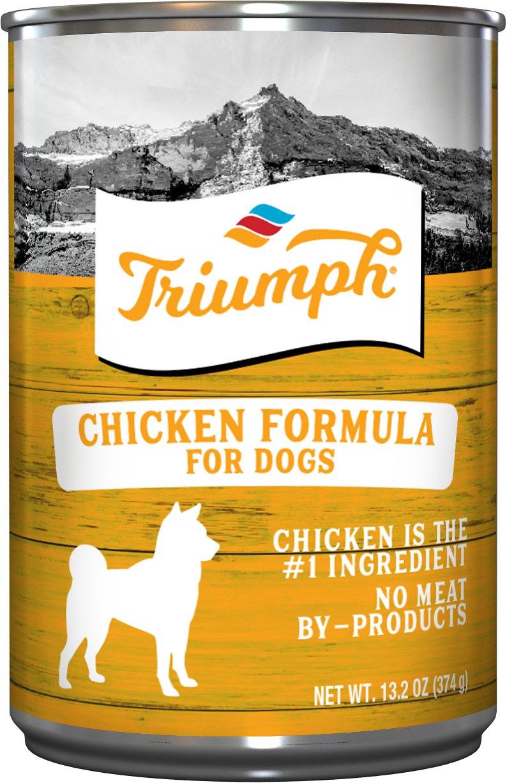 Triumph Chicken Formula Canned Dog Food, 13.2-oz, case of 12
