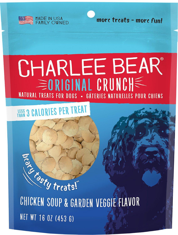 Charlee Bear Chicken Soup & Garden Veggie Flavor Dog Treats, 16-oz bag