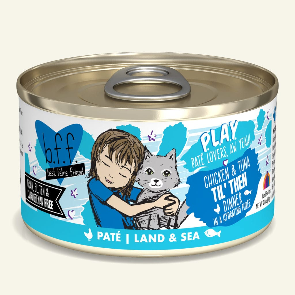 BFF PLAY Pate Til' Then Chicken & Tuna Dinner in Puree Grain-Free Wet Cat Food Image