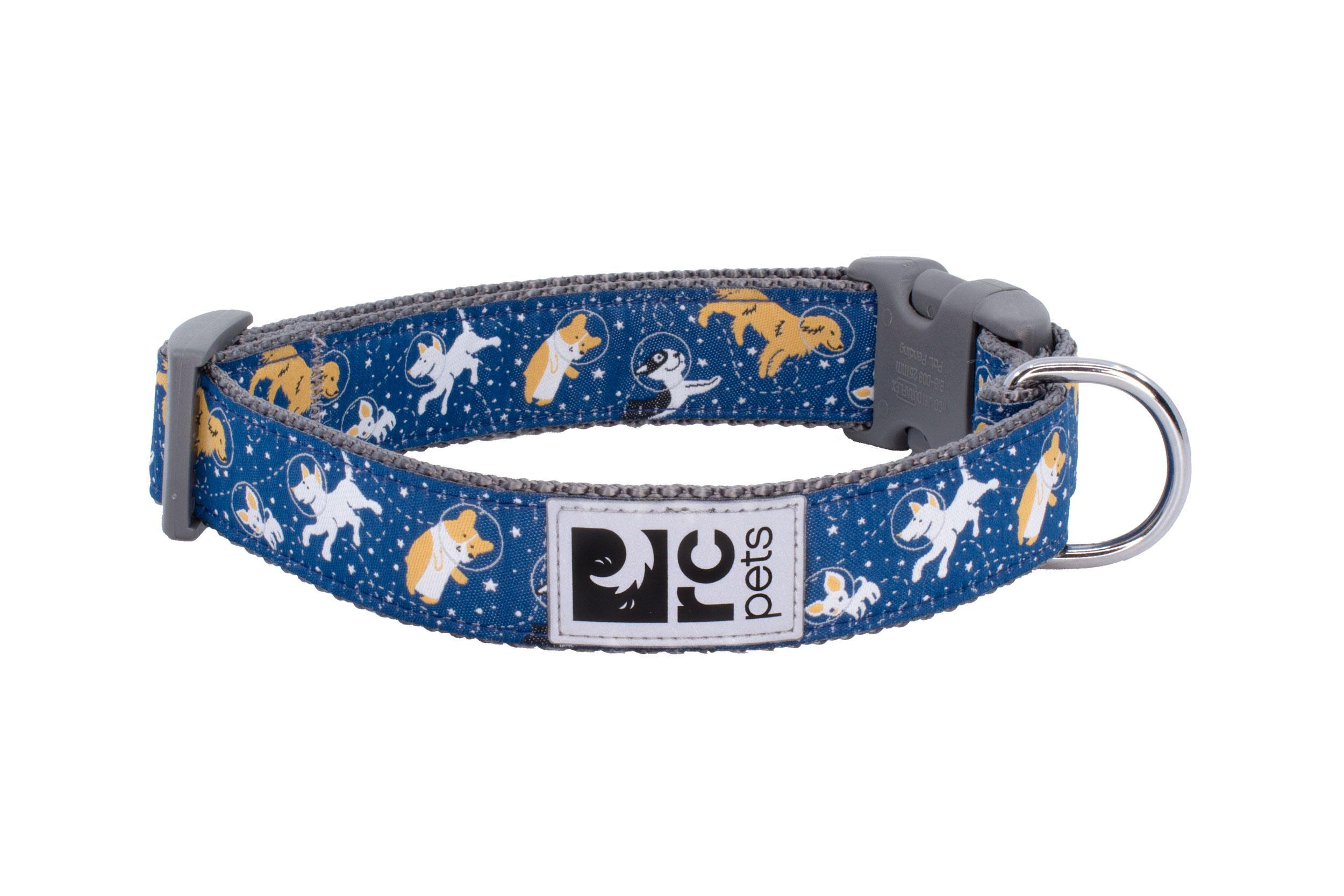 RC Pet Products Clip Dog Collar, Space Dogs, X-Small