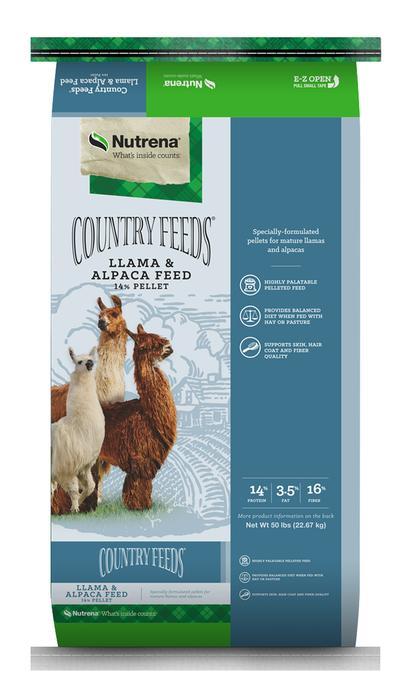 Nutrena Country Feeds Llama & Alpaca Feed, 50-lb