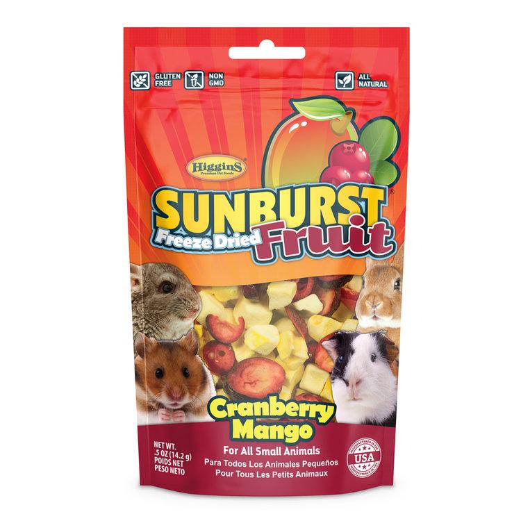 Higgins Sunburst Freeze Dried Fruit Cranberry Mango Small Animals Treats, .5-oz bag